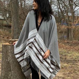 Beautiful tribal chic poncho/cape — Hamptons chic